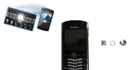 Cómo desmontar el trackball de la blackberry