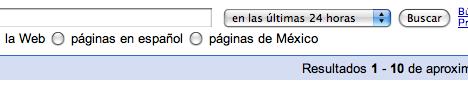 Ordenar resultados en Google