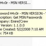 Programa para robar contraseñas de Hotmail, Live y MSN