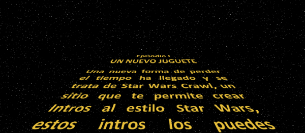 star wars intro. Star Wars Crawl