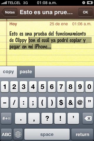 Clippy para copiar y pegar en el iPhone