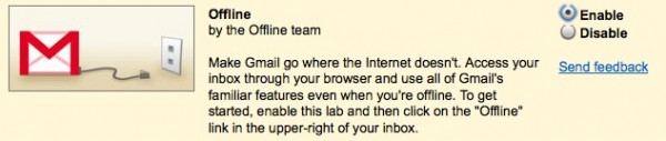 Habilitar Gmail Offline