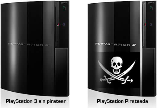 PlayStation sin piratear y una pirateada