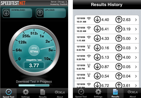 Speedtest para el iPhone