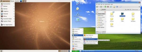 Tema de Linux (Gnome) para parecer Windows XP con XpGnome