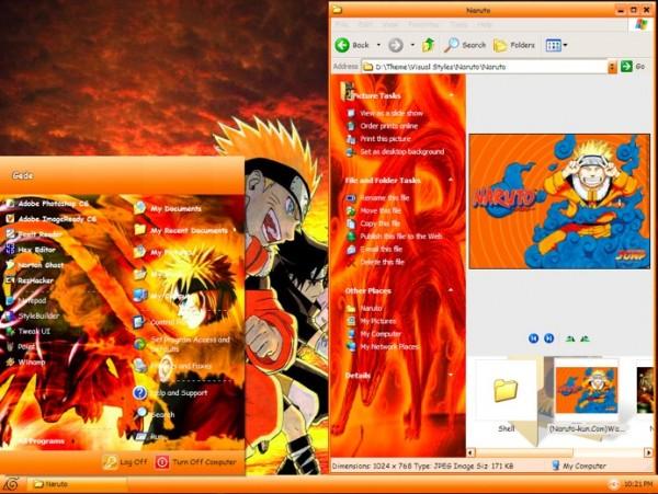 Theme de Naruto para Windows XP