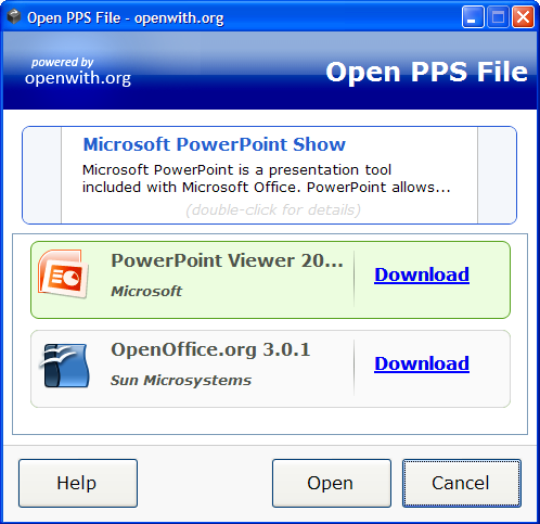 OpenWith.org - programas disponibles