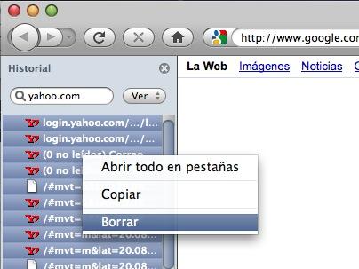 Borrando el historial de Firefox