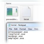 Como bloquear procesos en Windows