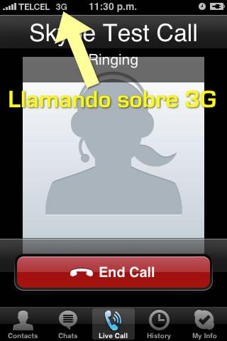 Usando Skype con la red 3G de Telcel