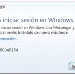 Como resolver el error 80040111 o 80040154 del MSN Messenger