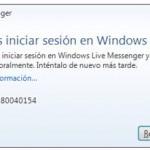Como resolver el error 80040111 o 80040154 del MSN Messenger