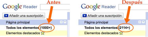 Google Reader Unread Count