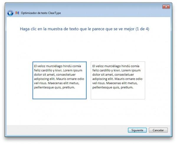 Optimizador de texto ClearType