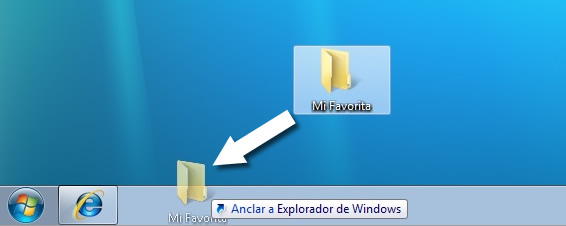 Carpetas Pin-Up en Windows 7