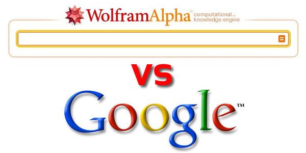 Wolfram Alpha vs Google