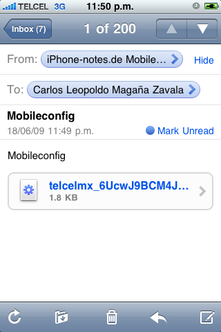 iPhone-notes Setting para habilitar el Tethering