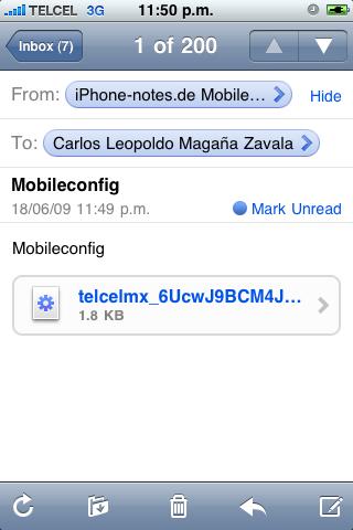 iPhone-notes Setting para habilitar el Tethering