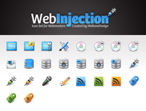 Iconos gratis WebInjection