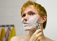 Rasurando con Shampoo