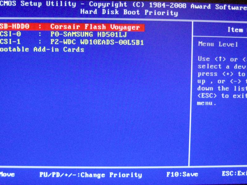 configurar bios set your disk boot priority