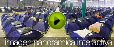 Zona de acampado en Aldea Digital