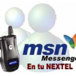 Cómo usar el MSN Messenger (Windows Live Messenger) en tu radio Nextel sin plan de datos