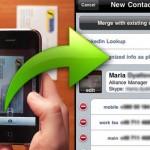Lector de tarjetas de presentación para iPhone (sorprendente)