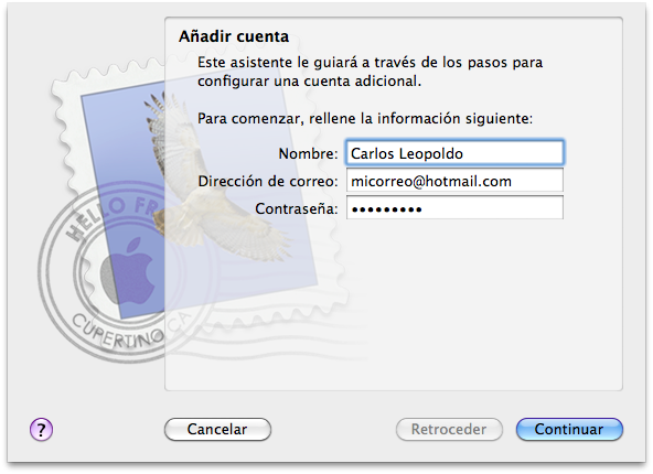 Configurar Hotmail en Mac