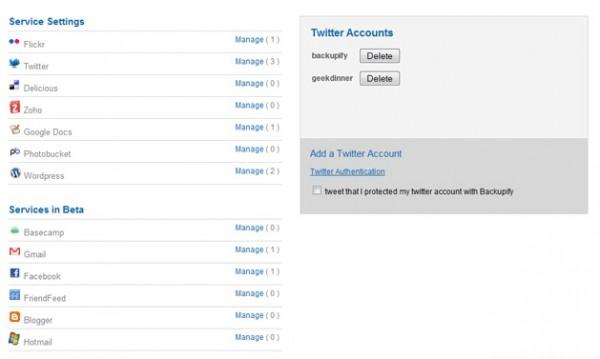 Como hacer una copia de seguridad de tus cuentas de Twitter, Gmail, Facebook, Hotmail, etc. 1