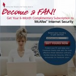 Consigue McAfee Internet Security gratis a través de Facebook