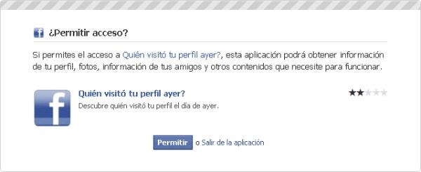 aplicacion saber quien visita tu perfil en Facebook estafa
