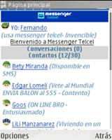 Agregar contactos al Messenger Telcel