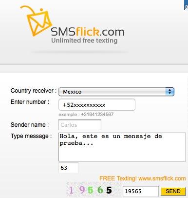 SMS Gratis a todo el mundo