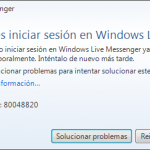 Como reparar el error 80048820 de Windows Live Messenger