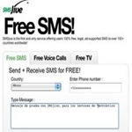 Envia SMS gratis a más de 150 países desde Internet con SMSjive