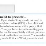 Aloha Editor un editor WYSIWYG creado en HTML5