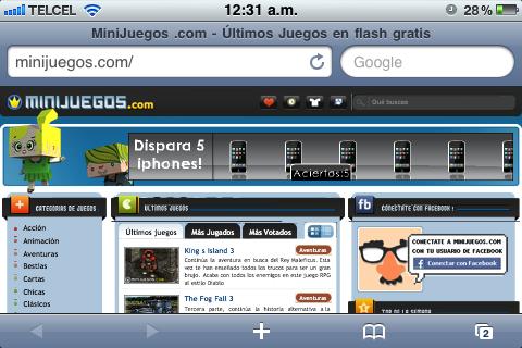 Flash Player para Safari en el iPhone