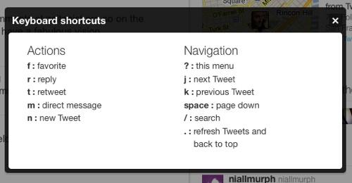 Nuevo diseño de Twitter y atajos de teclado 1