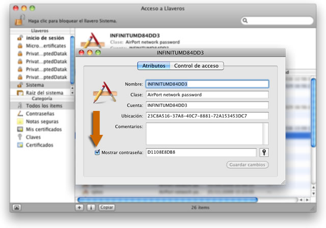 obtener claves wifi con mac
