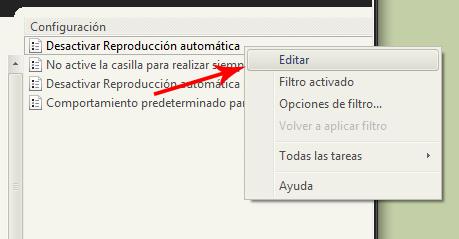 Editar reproduccion automatica