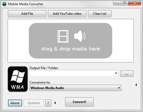 Software de conversión de audio y vídeo multiplataforma