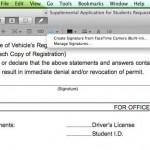 Cómo agregar una firma a documentos PDF en Mac OS X Lion