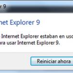 Ya se puede instalar IE9 sin necesidad reiniciar el ordenador