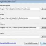Change Default Browser: cambia el navegador por defecto en Windows con un click