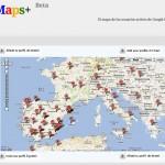 Mapa para localizar los usuarios de Google+