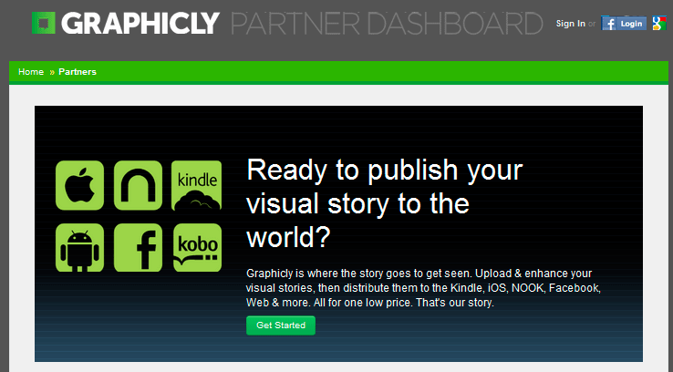 publica ebooks con graphicly