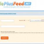 GooglePlusFeed.net: sigue una cuenta de Google Plus desde tu lector de RSS
