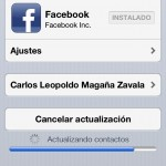 Sincronizando Facebook con iOS 6