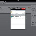 chrome download manager iPad